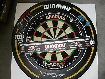 Blade 5 Winmau Competition Dart Board & Winmau EXTREME 2 Surround and Extras