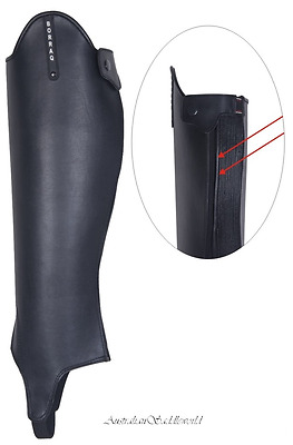 Black Synthetic Grand Prix Horse Riding Gaiters