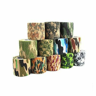 Hot Self-adhesive Non-woven Camouflage WRAP RIFLE GUN Hunting Camo Stealth Tape