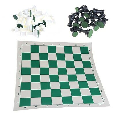 Tournament Chess Set New Game Gifts - Plastic Pieces and Green Roll 43x43cm