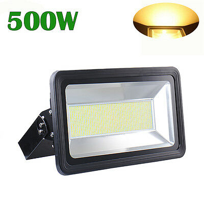 500W High Power LED Flood Light Warm White Outdoor Security Spot Floodlight 240V