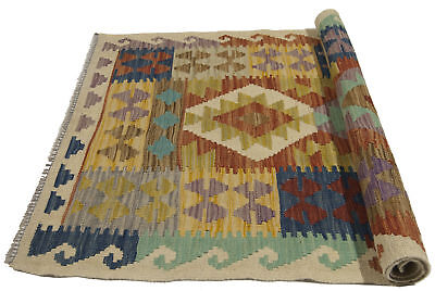 124x82 CM Autentik Kilim Kelem Original Hand Made Classic STYL - EASY TO CLEAN