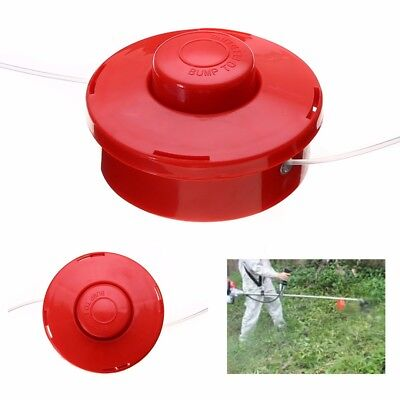 Replacement Nylon Brush Mower Bump Spool Grass Trimmer Head w/2.4mm Cut Red Rope