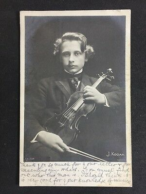 Vintage Postcard: Historical Figure: #A54: Real Photo: Violinist J Kocian : 1903