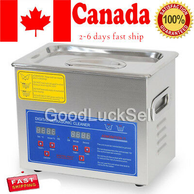 New Stainless Steel 3L Liter Industry Heated Ultrasonic Cleaner Heater Timer CAN