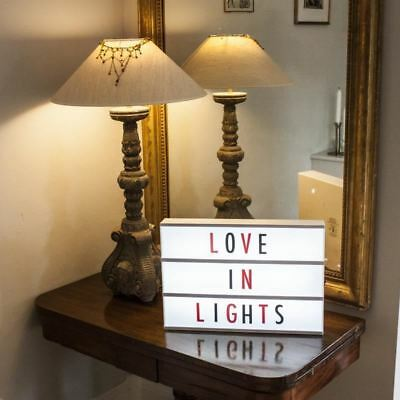 Light Up Your Life A3 - White Battery Operated Cinema Light Box Retro Billboard