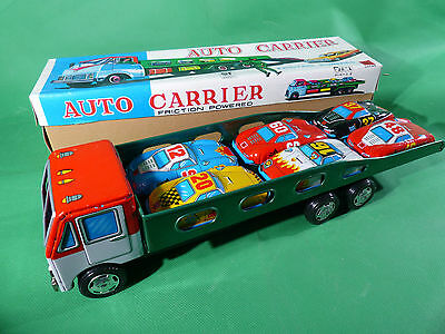 K.K. Japan - Friction Powered Auto Carrier - 33cm - mint in Box - NOS Lagerfund
