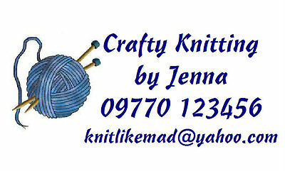 260 Personalised Labels Knitting / Address / handmade by / design 262