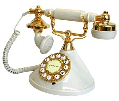 New Deluxe Corded Telephone Vintage Retro Home House Phone Classic Style Ringer