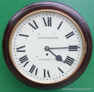 Stephenson Haywards Heath Antique 8 Day 14 Inch Fusee Dial Clock Serviced