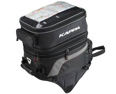 Kappa Motorcycle Luggage Expandable Magnetic Double Tank Bag - 30-40L | LH201