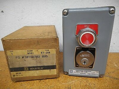 Square D 9001-KY-298 Security Control Switch 15A 600V New In Box