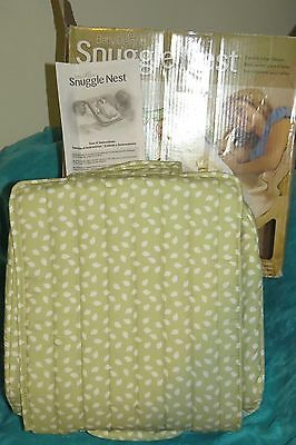 Baby Delight Snuggle Nest Surround Portable Infant Sleeper w/ Sound - Green EUC