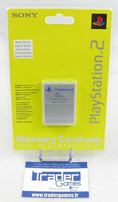 NEUF BRAND NEW PS2 SONY OFFICIAL 8MB SILVER MEMORY CARD MAGIC GATE Playstation 2