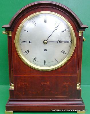 Elliott London English Triple Fusee 8 Day Westminster Chimes Bracket Clock