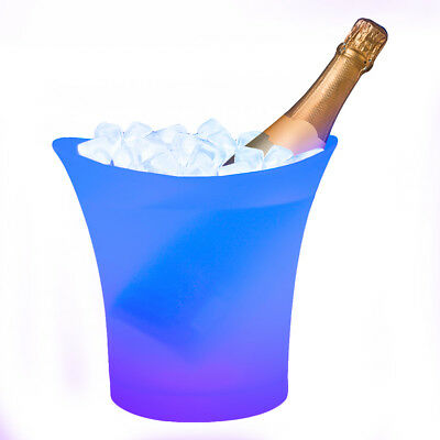 Light Up Colour Changing LED Champagne Ice Bucket Drinks Party Glow