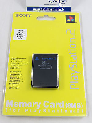 NEUF BRAND NEW PS2 SONY OFFICIAL 8MB BLACK MEMORY CARD MAGIC GATE Playstation 2