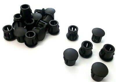 9.5mm Round domed grommets. Plastic end plug. Blanking. Tube insert. Top Quality