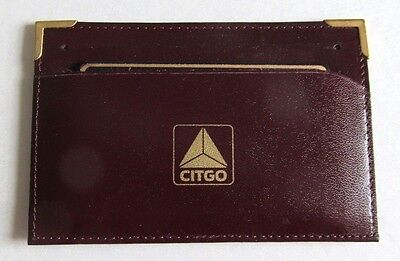CITGO Leather Card Wallet w/Calculator - GENUINE LEATHER , NEW , HARD-TO-FIND !