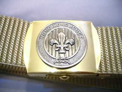 HONG KONG Scout Leader Commissioner Outdoor Activities Uniform Buckle & Belt (B)