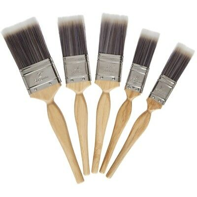 Harris Platinum Paint Brush Set of 5 Series Brush With Wooden Handles brand new