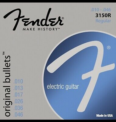 Fender 3150R Original Bullets Pure Nickel Wound Electric Guitar Strings - Regula