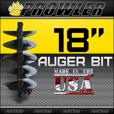 "18"" Auger Bit w/ Round Collar For Skid Steer Loaders 4' Length  (18 Inch)"