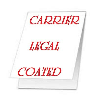 2 Carrier Sleeve's For Laminating Laminator Pouches LEGAL  SIZE  STITCHED COATED
