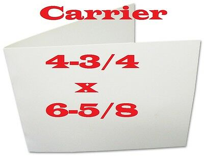 5- Carrier Sleeve For Laminating  Pouche Sheet  CARD SIZE  4-3/4 x 6-5/8