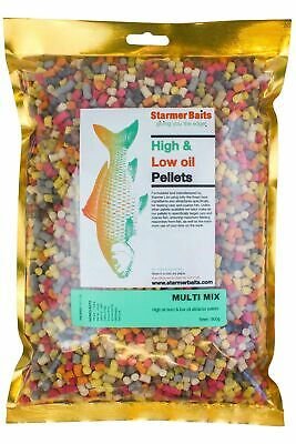 Mixed high & low oil feed pellets for carp and coarse fishing all season 5mm