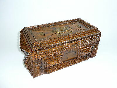 La Pureza - Unusual Cigar Box um 1900 Kerbschnitzerei Casket B-441