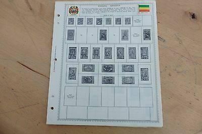 F16 Lot Ethiopia & French Equatorial Africa Minkus 13 pages 1894-1967 w/ stamps