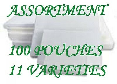 ASSORTMENT PACK Laminating Laminator Pouches Sheets 11 VARIETIES 100 Pouches