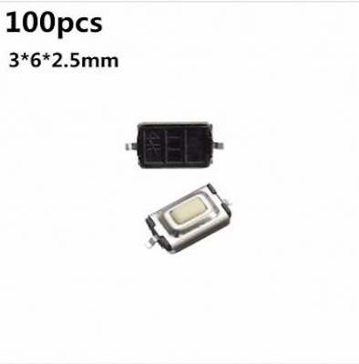 100pcs 3*6*2.5mm Micro Switch 2-Pin SMD Tactile Push Button Switch Tact Switch