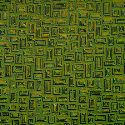 Textured Lime Green Blue Gold Geometric Woven Crypton Upholstery