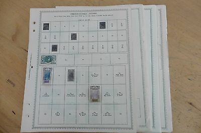 E30 Lot of Guinee French Guinea Portuguese Spanish Minkus 27 pages w/ stamps