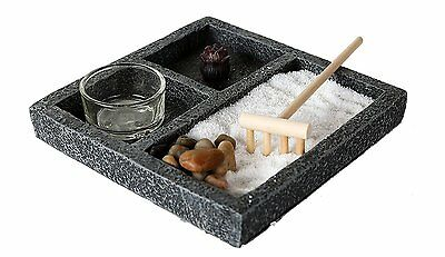Zen Garden Enlightenment Set Meditation Use Home Office Decor Starter Kit