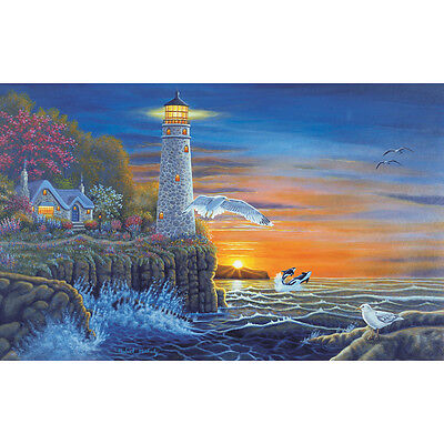 "Paint By Number Kit 15.375""X11.25"" Waterside Lighthouse PAL-18"