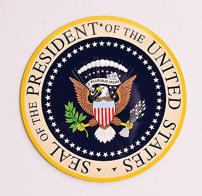 """President of the United States - Presidential Seal 10"""" x 10"""" wooden sign"""