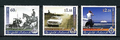 Norfolk Island 2011 MNH Police Force 80 Yrs 3v Set Cars Ships Horses Stamps