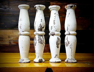 Set of 4 Porch Spindles or Ballustrades Corbels Architectural Salvage Vintage