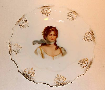 Antique Queen Louise Of Prussia Portrait Plate