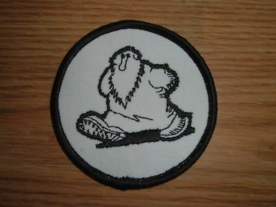 """Vintage Robert Crumb """"mr. Natural"""" Embroidered Patch 1970's"""