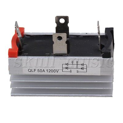 QLF50A Aluminum Heatsink Base Single Phase Bridge Rectifier 50A 1200V Slivery