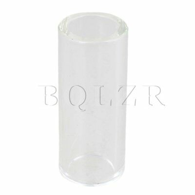 28x20x67mm Transparent BQLZR High Boron Glass Guitar Slide Tube Cylinder