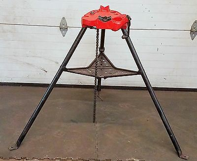 Ridgid 450 Chain Vise Tripod Stand Use With Your Pipe Threading Threader 300 700