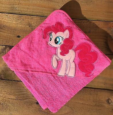 100% Cotton Baby Hooded Bath towel Pink Pony  75cm X 75cm