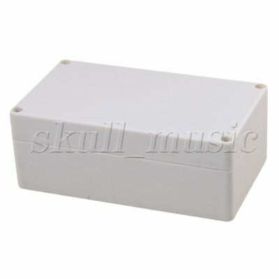 BQLZR Grey White Plastic Waterproof Connector Outdoor Electric Junction Box