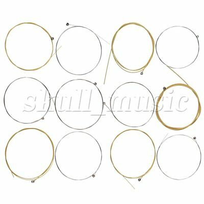 12x Gold Stainless Steel String Steel Core for Acoustic Guitar