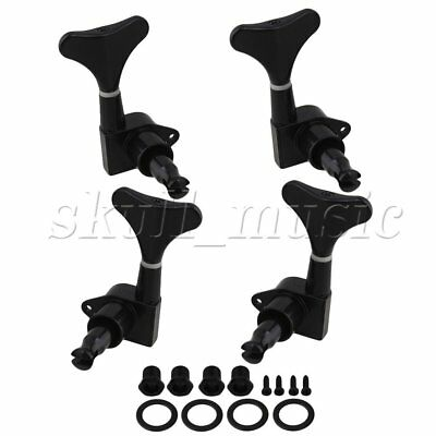 BLACK Sealed BASS TUNERS TUNING PEGS SET 4 (2L+2R)